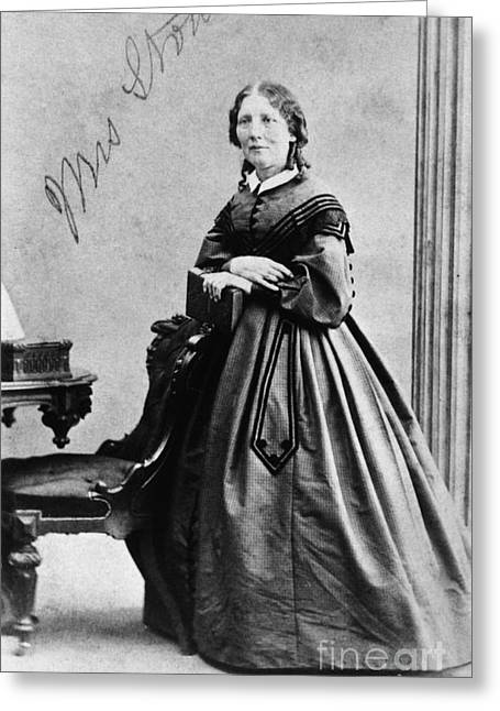 Abolition Greeting Cards - Harriet Beecher Stowe Greeting Card by Granger