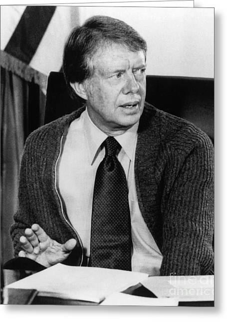 President Carter Greeting Cards - Jimmy Carter (1924- ) Greeting Card by Granger
