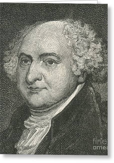 National Portrait Gallery Greeting Cards - John Adams, 2nd American President Greeting Card by Photo Researchers