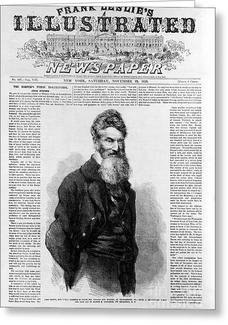 Abolish Slavery Greeting Cards - John Brown, American Abolitionist Greeting Card by Photo Researchers
