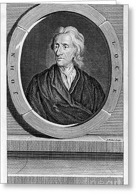 1752 Greeting Cards - John Locke (1632-1704) Greeting Card by Granger