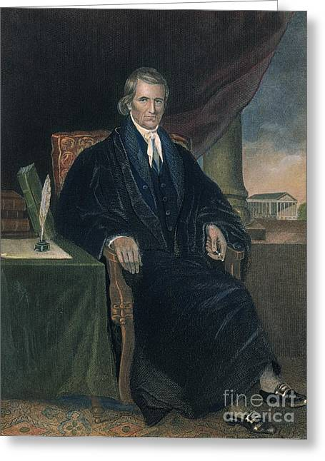 Chief Justice Greeting Cards - John Marshall (1755-1835) Greeting Card by Granger