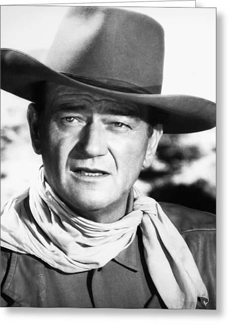 Neckerchief Greeting Cards - John Wayne (1907-1979) Greeting Card by Granger
