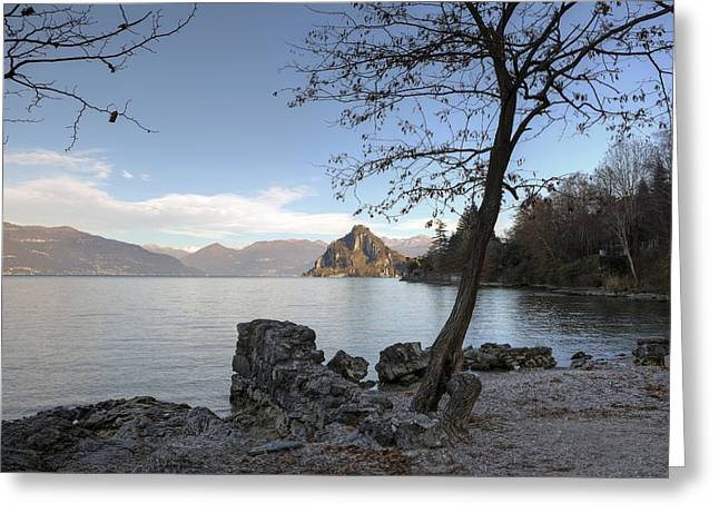 Winter Lake Greeting Cards - Lake Maggiore Greeting Card by Joana Kruse