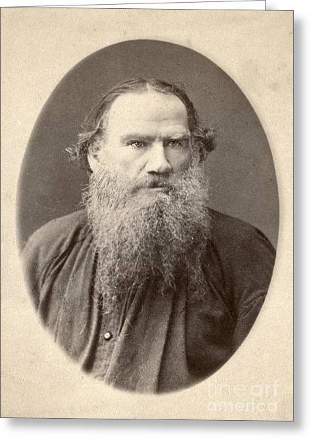 1880s Greeting Cards - Leo Tolstoy (1828-1910) Greeting Card by Granger