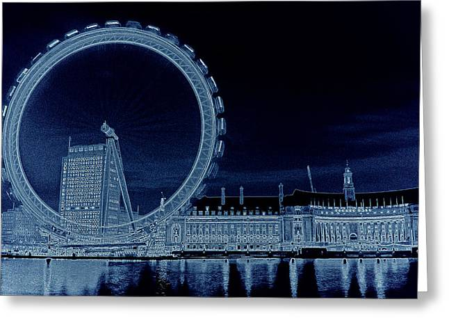 London Eye Art Greeting Card by David Pyatt