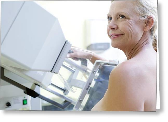 55-59 Years Greeting Cards - Mammography Greeting Card by