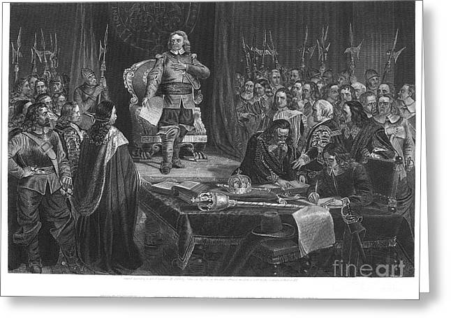 Cromwell Greeting Cards - Oliver Cromwell (1599-1658) Greeting Card by Granger