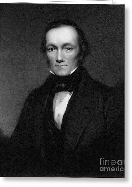Taxonomist Greeting Cards - Richard Owen, English Paleontologist Greeting Card by Science Source