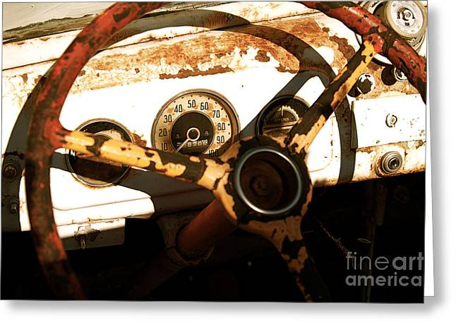 Rusted Antique Chevrolet Car Brand Ornament Greeting Card by ELITE IMAGE photography By Chad McDermott