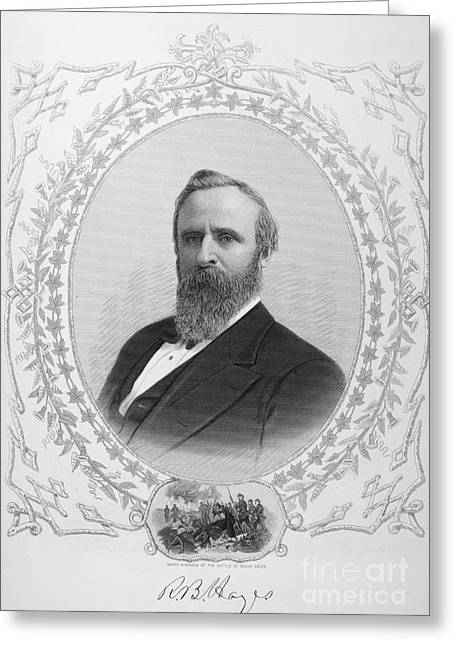 Autograph Greeting Cards - Rutherford B. Hayes Greeting Card by Granger