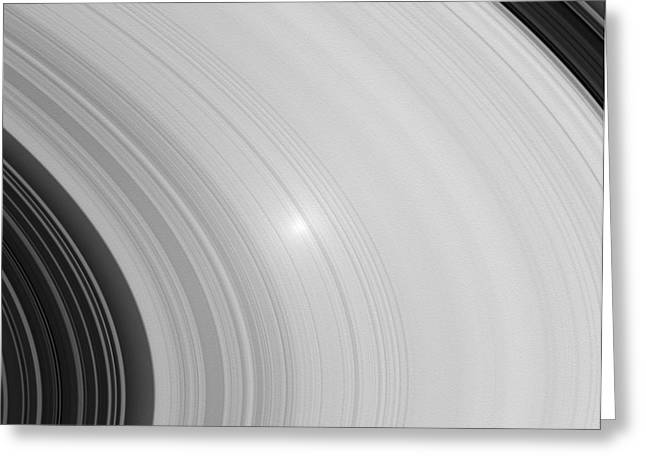 Saturns Rings Greeting Card by NASA / Science Source
