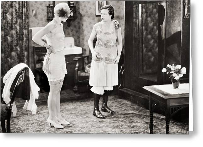 Dressing Room Photographs Greeting Cards - Silent Still: Bathing Greeting Card by Granger