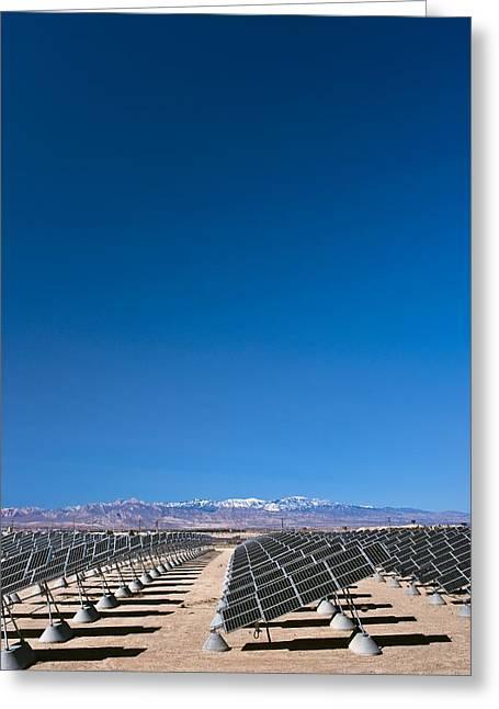 Generators Greeting Cards - Solar Power Plant, Nevada, Usa Greeting Card by David Nunuk