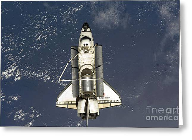 Module Greeting Cards - Space Shuttle Endeavour Greeting Card by Stocktrek Images