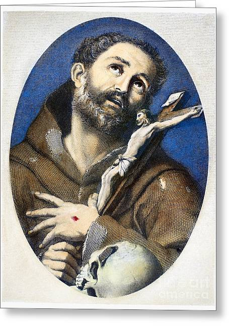 Cassocks Greeting Cards - St. Francis Of Assisi Greeting Card by Granger