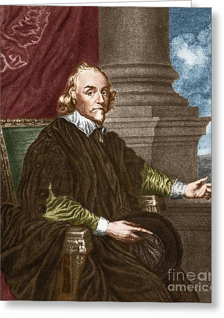 Royal College Of Physicians Greeting Cards - William Harvey, English Physician Greeting Card by Science Source
