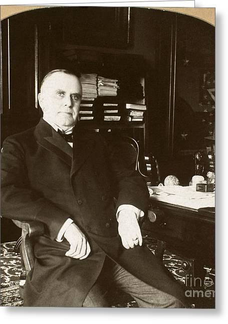 The White House Photographs Greeting Cards - WILLIAM McKINLEY Greeting Card by Granger