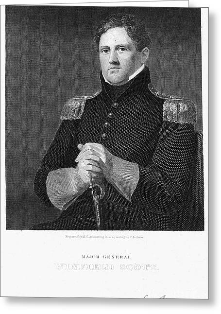 Autograph Greeting Cards - Winfield Scott (1786-1866) Greeting Card by Granger