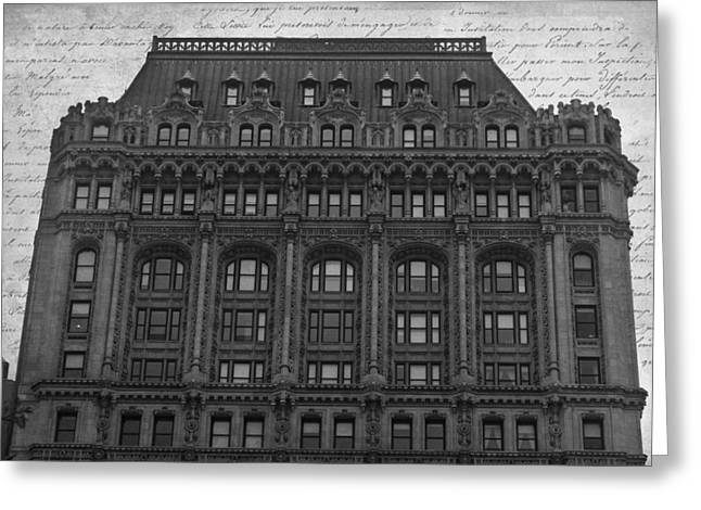 Altered Architecture Greeting Cards - 90 West BW Greeting Card by Teresa Mucha