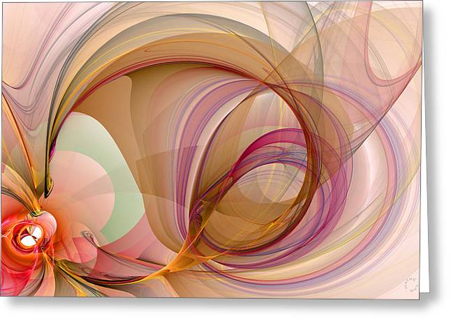 Generative Abstract Greeting Cards - 902 Greeting Card by Lar Matre