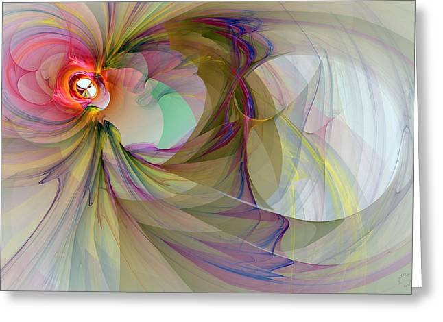 Generative Abstract Greeting Cards - 903 Greeting Card by Lar Matre