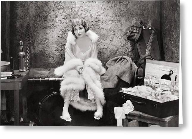 Single-celled Greeting Cards - Silent Film Still: Woman Greeting Card by Granger