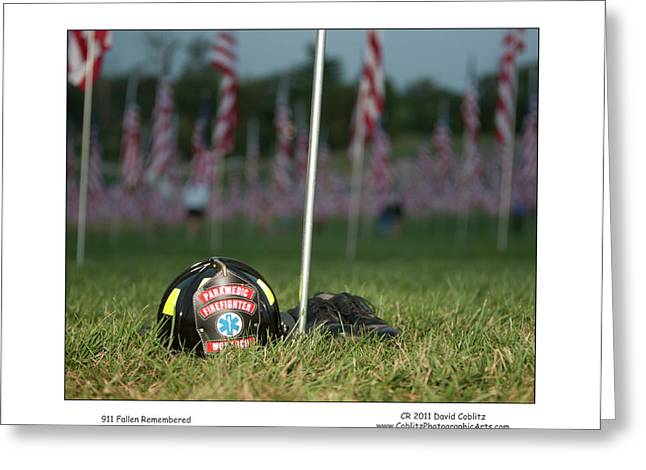 911 Fallen Remembered Greeting Card by David Coblitz