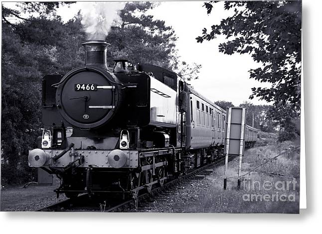 Pannier Greeting Cards - 9466 on the Mid Norfolk Greeting Card by Rob Hawkins