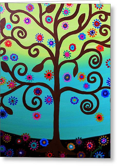 Carter House Greeting Cards - Tree of Life Greeting Card by Pristine Cartera Turkus