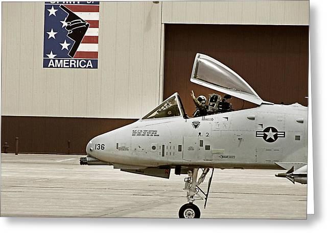 A-10 Thunderbolt Greeting Card by Lamyl Hammoudi