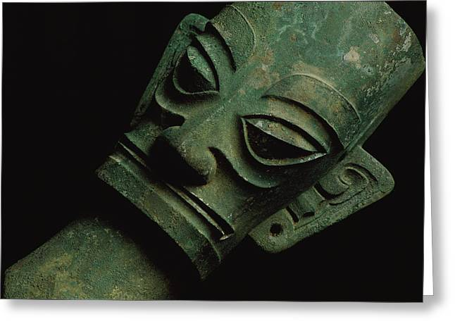 Sichuan Province Greeting Cards - A 3,200-year-old bronze Greeting Card by O. Louis Mazzatenta