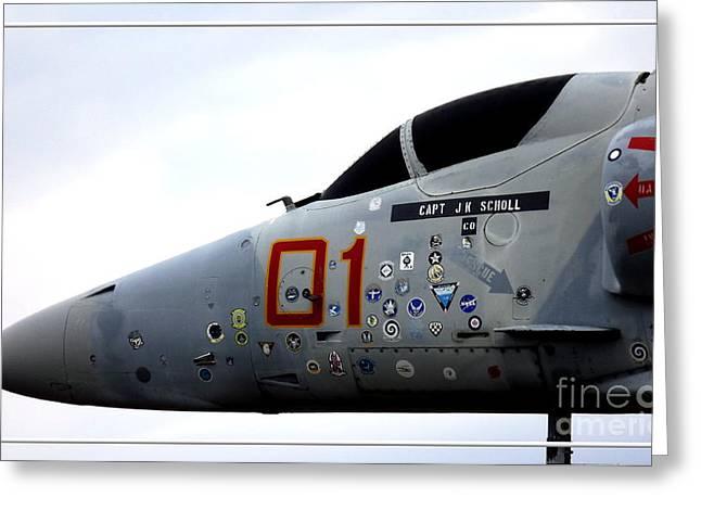 Vfw Greeting Cards - A-4E Skyhawk plane closeup Greeting Card by Rose Santuci-Sofranko