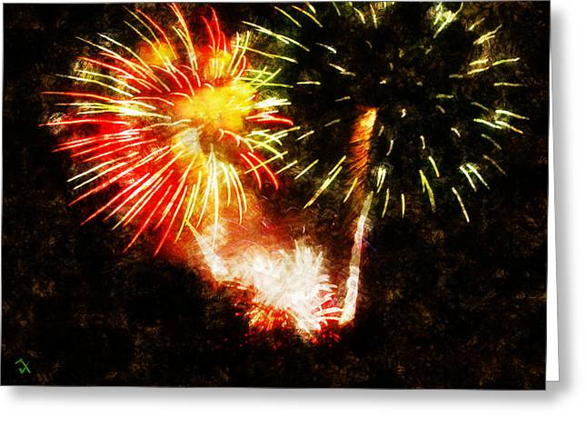 Independence Day Paintings Greeting Cards - A 4TH Celebration  Greeting Card by Adam Vance