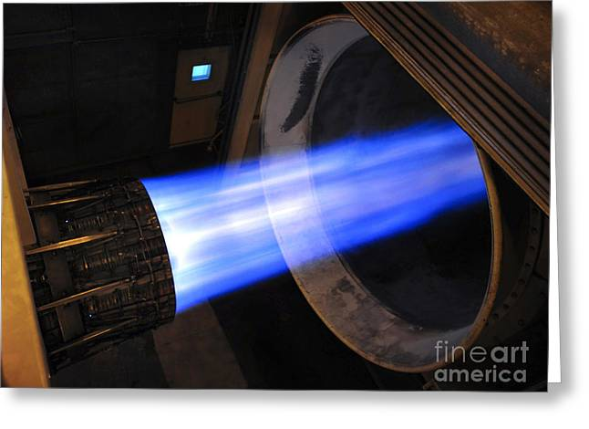 Emitting Greeting Cards - A B-1b Lancer F-101 Turbofan Engine Greeting Card by Stocktrek Images
