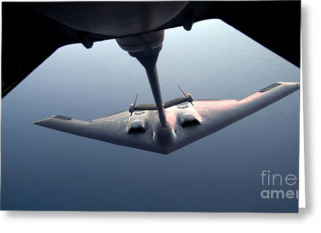 A B-2 Spirit Bomber Conducts Greeting Card by Stocktrek Images