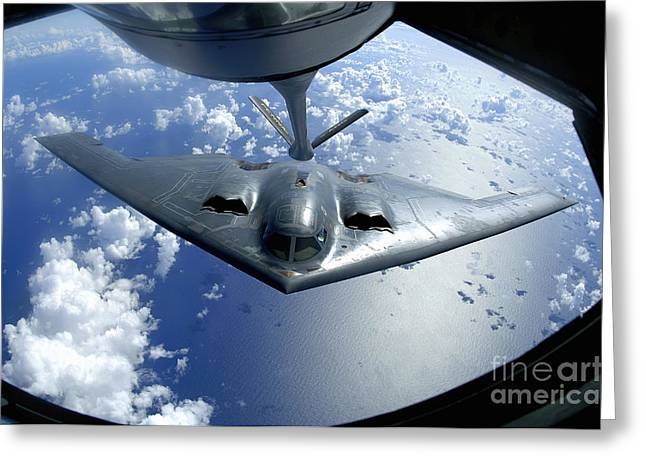 Mechanism Greeting Cards - A B-2 Spirit Moves Into Position Greeting Card by Stocktrek Images