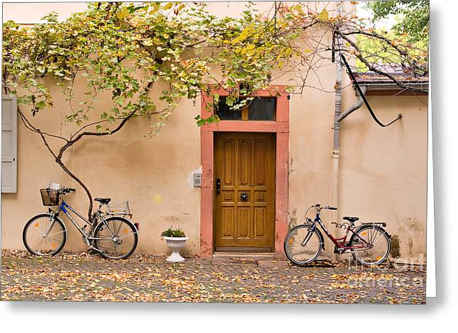 Trailing Greeting Cards - A Back Lane in Speyer Greeting Card by Louise Heusinkveld