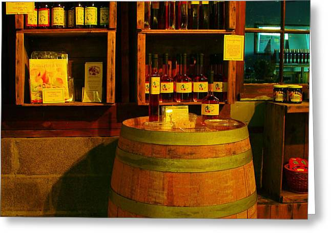 A BARREL AND WINE Greeting Card by Jeff  Swan