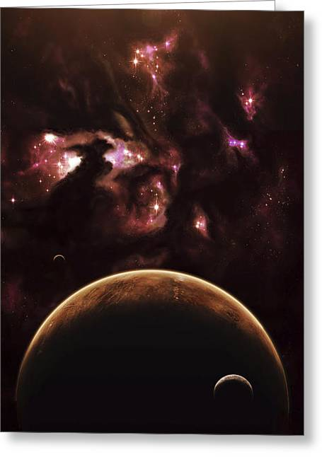 A Barren World Passes In Front Greeting Card by Kevin Lafin