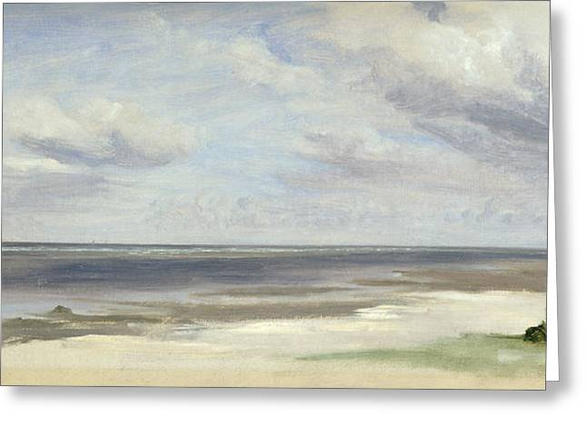 Baltic Sea Greeting Cards - A Beach on the Baltic Sea at Laboe Greeting Card by Jacob Gensler