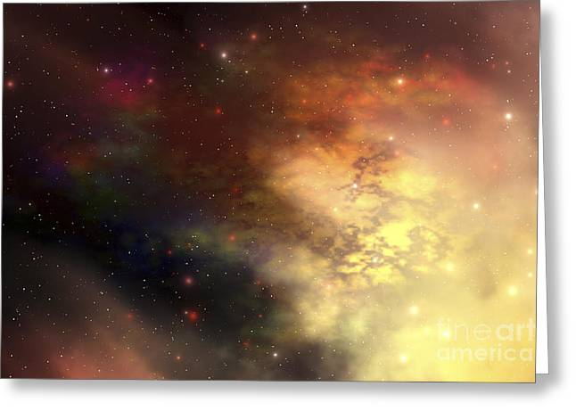 Starforming Greeting Cards - A Beautiful Nebula Out In The Cosmos Greeting Card by Corey Ford