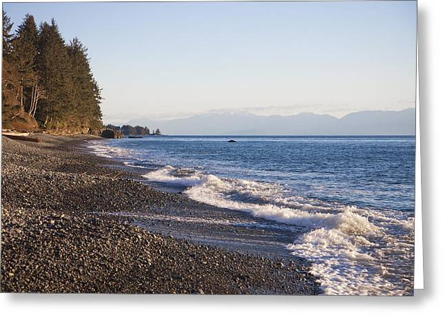 Getting Air Greeting Cards - A Beautiful Shoreline At Sunset Greeting Card by Taylor S. Kennedy