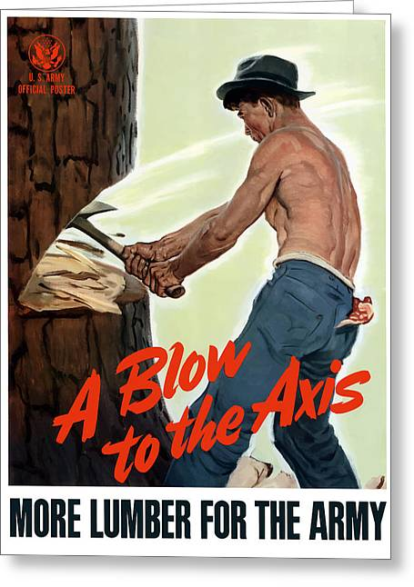 Blow Greeting Cards - A Blow To The Axis Greeting Card by War Is Hell Store