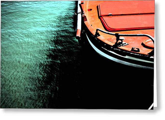 Chios Greeting Cards - A boat Greeting Card by Maria Panagiotaki