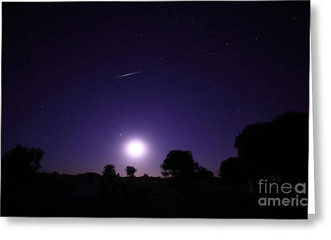 Geminids Greeting Cards - A Bolide From The Geminids Meteor Greeting Card by Luis Argerich