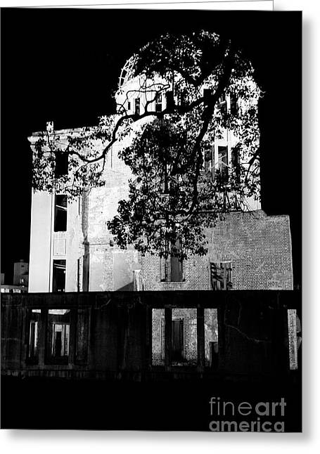 Hiroshima Peace Memorial Greeting Cards - A-bomb Dome Greeting Card by Dean Harte