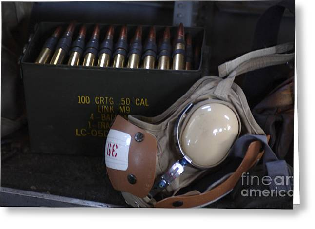 .50 Caliber Greeting Cards - A Box Of Live M2 .50 Caliber Machine Greeting Card by Stocktrek Images