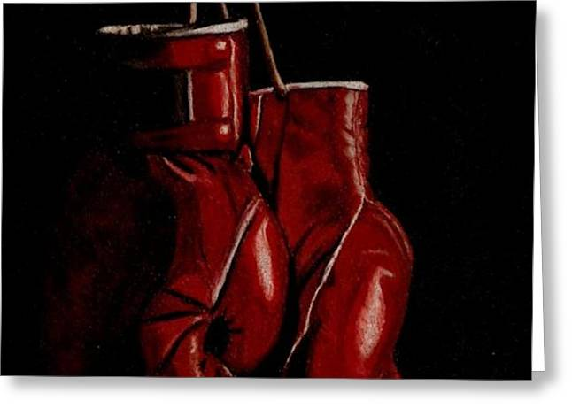 A Boxer's Passion Greeting Card by Laura Evans