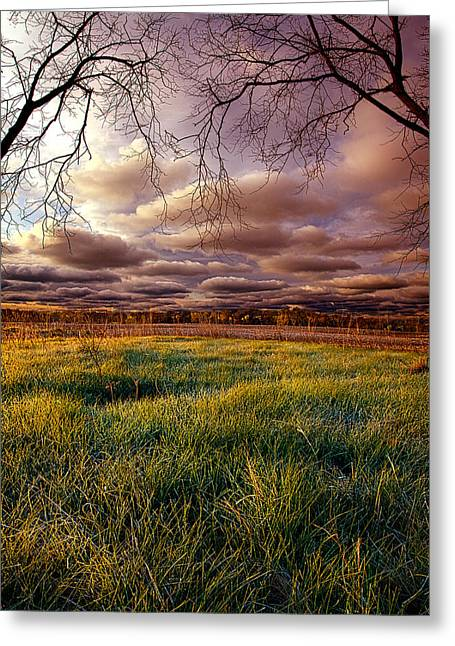 Geographic Greeting Cards - A Breath of Morning Greeting Card by Phil Koch